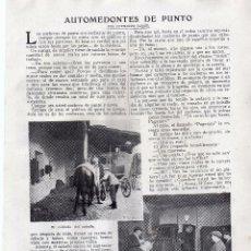Coleccionismo: RECORTE PRENSA DE 1919-AUTOMEDONTES DE PUNTO. Lote 67035866