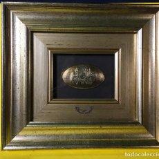 Coleccionismo: VISTA SILUETA PLATA 835 CIUDAD SARAJEVO ENMARCADO REGALO EMBAJADOR ESPAÑA 20,5X23CMS. Lote 67144089