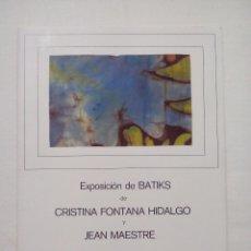 Coleccionismo: RECORDATORIO EXPOSICIÓN DE BATIKS. OVIEDO. DIPTICO. Lote 67471329