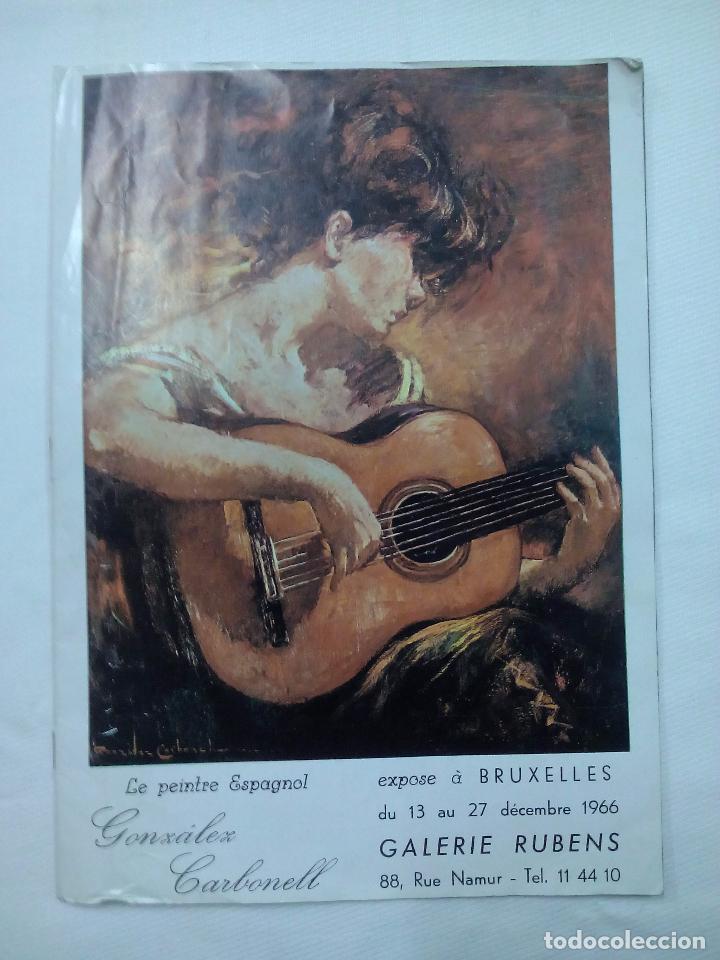 LE PINTRE ESPAGNOL GONZALEZ CARBONELL. FRANCES (Coleccionismo - Laminas, Programas y Otros Documentos)