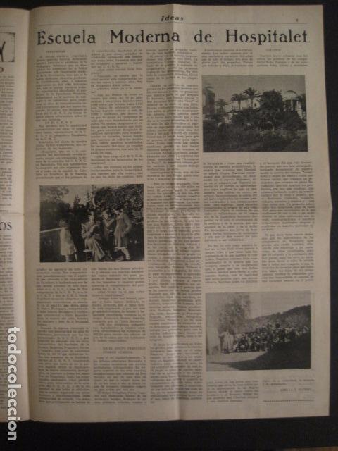 Coleccionismo: HOSPITALET-29 DICIEMBRE 1936-IDEAS-NUMERO 1-MOVIMIENTO LIBERTARIO -GUERRA CIVIL-VER FOTOS- (V-7594) - Foto 6 - 67601209