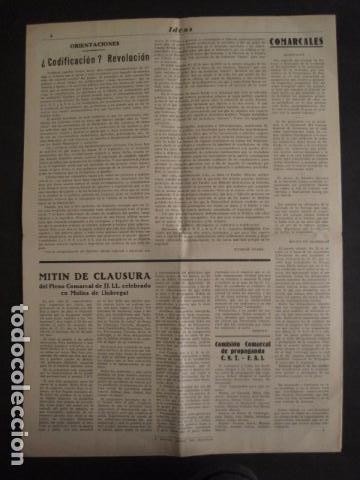 Coleccionismo: HOSPITALET-29 DICIEMBRE 1936-IDEAS-NUMERO 1-MOVIMIENTO LIBERTARIO -GUERRA CIVIL-VER FOTOS- (V-7594) - Foto 8 - 67601209