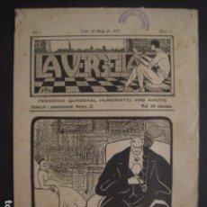 Coleccionismo: VALLS - 12 MAIG 1917- LA VERGELLA - NUMERO 1 -PERIODICH HUMORISTIC AMB NINOTS -VER FOTOS- (V-7596). Lote 67602313