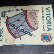 Coleccionismo: PROGRAMA FIESTAS VITORIA 1967. Lote 67839173