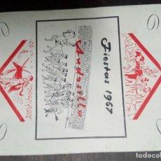 Coleccionismo: PROGRAMA FIESTAS ANDOSILLA 1967. Lote 67839433