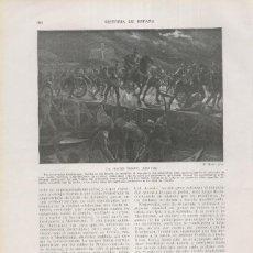 Coleccionismo: HISTORIA DE ESPAÑA LAMINA 130: HERNAN CORTES Y LA NOCHE TRISTE (1520). Lote 55490769