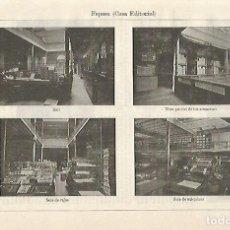 Coleccionismo: LAMINA ESPASA 16242: VISTAS DE LA EDITORIAL ESPASA. Lote 69491305