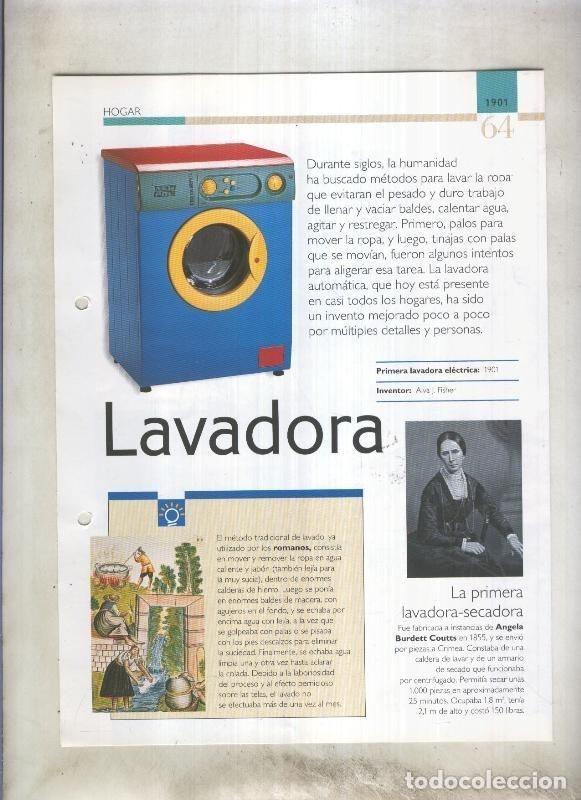 LAVADORA SON 4 PAGINAS Y (Coleccionismo - Laminas, Programas y Otros Documentos)