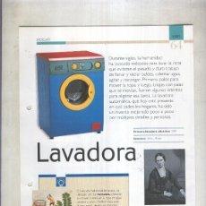 Coleccionismo: LAVADORA SON 4 PAGINAS Y. Lote 69554919