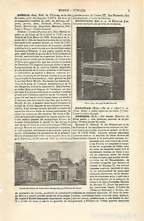 LAMINA ESPASA 16041: ESTILO ENRIQUE II (Coleccionismo - Laminas, Programas y Otros Documentos)