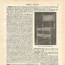 Coleccionismo: LAMINA ESPASA 16041: ESTILO ENRIQUE II. Lote 69557957