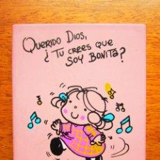 Coleccionismo: ESTUCHE CON ESPEJO Y PEINE QUERIDO DIOS ¿TU CREES QUE SOY BONITA?. MARCA PERONA. [NUEVO]. Lote 69668469