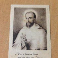 Coleccionismo: ANTIGUA ESTAMPA RELIGIOSA CON RELÍQUIA VALENTIN DE BERRIO OCHOA. Lote 69673305
