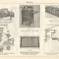 Coleccionismo: LAMINA ESPASA 16626: MAQUINA TAQUIGRAFICAS. Lote 69685153