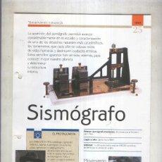 Coleccionismo: SISMOGRAFO: SON 4 PAGINAS Y . Lote 69734831