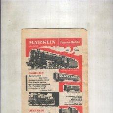 Coleccionismo: HOJA PROPAGANDA TRENES MARKLIN. Lote 69751249