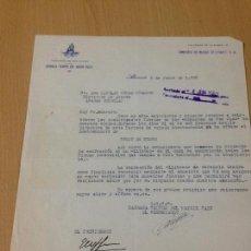 Coleccionismo: CARTA HOGUERAS DE SAN JUAN BARRACA SEMPRE DEL MATEIX PALO ALICANTE 1953 ABARAN MURCIA . Lote 70029585