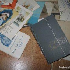 Coleccionismo: LOTE RECORDATORIOS TARJETAS LIBROS AGENDA MANUSCRITA DE 1964 ETC. Lote 70451729