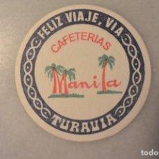 Coleccionismo: POSAVASOS CAFETERIA MANILA. Lote 70476953