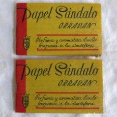 Coleccionismo: 2 LIBRILLOS DE PAPEL SÁNDALO ORRAVAN BARCELONA. Lote 71080833