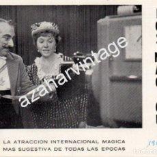 Coleccionismo: MAGIA , ANTIGUA POSTAL PUBLICITARIA DE LOS MAGICUS, 158X115MM. Lote 71786095