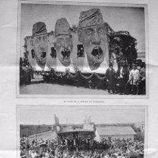 Coleccionismo: PPIO 1900-GRABADO-FIESTAS DE VALENCIA. VAGÓN Y ESPERA DEL TREN BOTIJO EN CATARROJA-COMISION-CARRUAJE. Lote 43621401