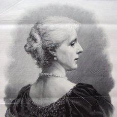 Coleccionismo: 1900. GRABADO. S.M.MARIA ENRIQUETA, REINA DE BELGICA. 41 X 28 CM. Lote 45530130