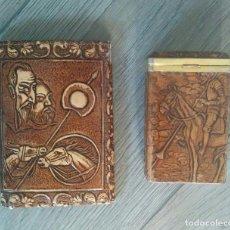 Coleccionismo: ANTIGUA PITILLERA Y CARTERA (DON QUIJOTE). Lote 71833287