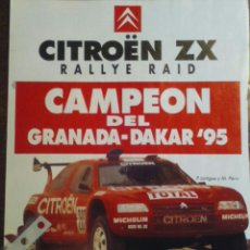 Coleccionismo - Publicidad automovil Citroen ZX campeón Rally Granada Dakar 1995 - 71978639