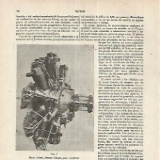 Coleccionismo: LAMINA ESPASA 17664: MOTOR DIESEL SISTEMA CLERGET. Lote 72325982