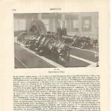 Coleccionismo: LAMINA ESPASA 17699: HIPERCOMPRESOR SULZER. Lote 72326466