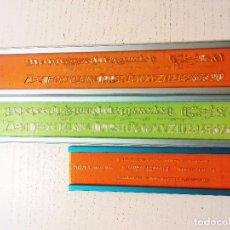Coleccionismo: 3 PLANTILLAS LETRAS - STANDARDGRAPH / ROTRING FABER CASTELL. Lote 72428311
