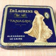Coleccionismo: ANTIGUA CAJA HOJALATA CIGARRILLOS TANAGRA ED. LAURENS. Lote 72654819