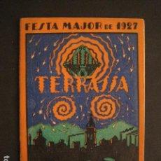 Coleccionismo: TERRASSA - FESTA MAJOR DE 1927 - PROGRAMA ANUNCI - VER FOTOS - ( V-8113). Lote 72789135