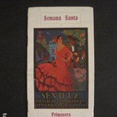 Coleccionismo: SEVILLA - SEMANA SANTA - PRIMAVERA 1927 - PROGRAMA - VER FOTOS - ( V-8114). Lote 72789355