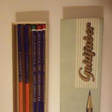 Coleccionismo: FABER CASTELL GOLDFABER CAJA CON 5 LÁPICES GOLDFABER VARIOS.. Lote 72797515