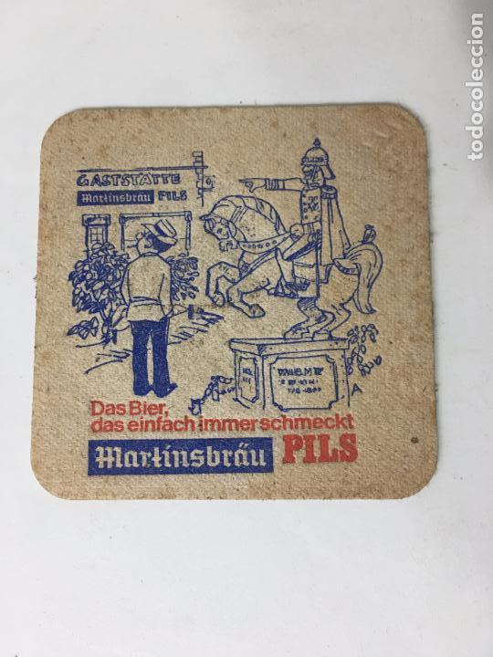POSA VASOS DE CERVEZA MARTINSBRAU PILS (Coleccionismo - Varios)