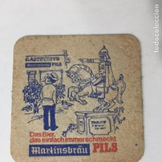 Coleccionismo: POSA VASOS DE CERVEZA MARTINSBRAU PILS. Lote 72839463