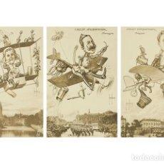 Coleccionismo: 5 POSTALES SATIRICAS. RETRATOS DE GOBERNANTES DEL MUNDO. SERIE CIRCUIT INTERNATIONAL.. Lote 73025207