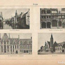 Coleccionismo: LAMINA ESPASA 11800: PANORAMICAS DE BRUJAS BELGICA. Lote 73438971