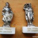Coleccionismo: FIGURITAS METAL CON BASE DE MARMOL EL CID Y Dª JIMENA. MONASTERIO DE CARDEÑA. Lote 73568771