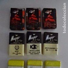 Coleccionismo: LOTE DE 9 JABONES ANTIGUOS - MAJA - HENO DE PRAVIA - MAGNO - CON PUBLICIDAD. Lote 73756783