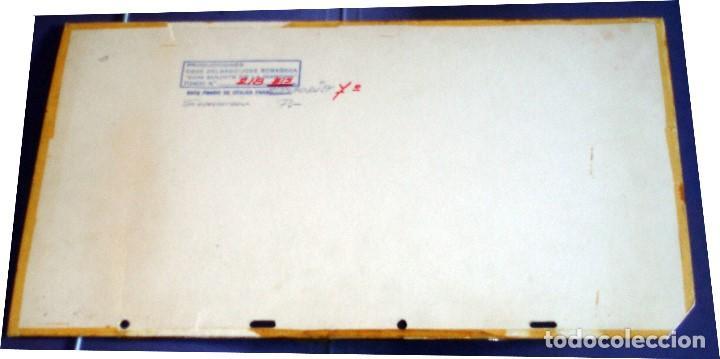 Coleccionismo: FONDO 218bis ORIGINAL DE LA SERIE DE DIBUJOS ANIMADOS D. QUIJOTE DE LA MANCHA (1979) - Témpera - Foto 2 - 73868131