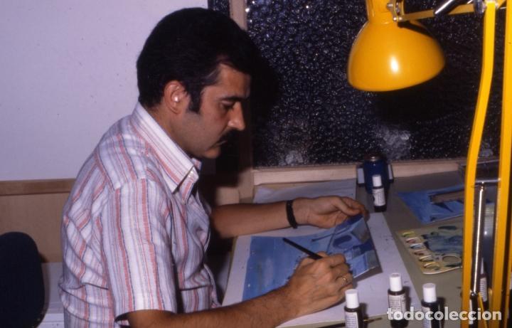 Coleccionismo: FONDO 23 ESCENARIO ORIGINAL DE LA SERIE DE DIBUJOS ANIMADOS D. QUIJOTE DE LA MANCHA (1979) - Témpera - Foto 4 - 73838847