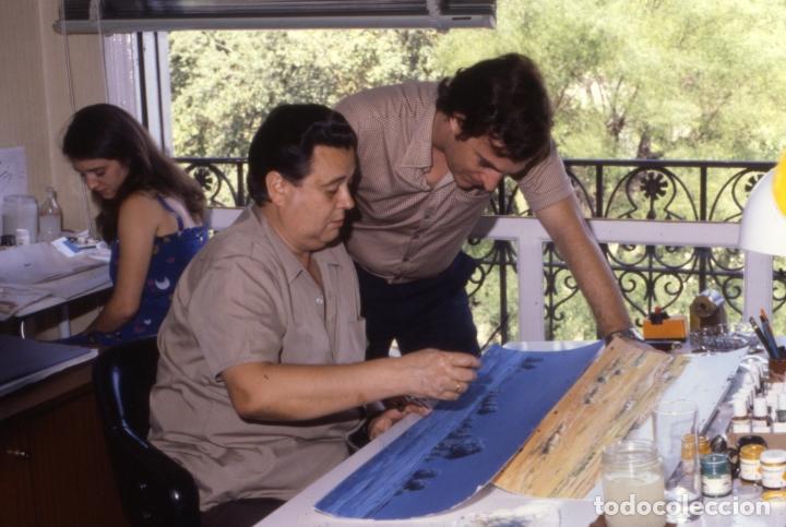 Coleccionismo: FONDO 23 ESCENARIO ORIGINAL DE LA SERIE DE DIBUJOS ANIMADOS D. QUIJOTE DE LA MANCHA (1979) - Témpera - Foto 7 - 73838847