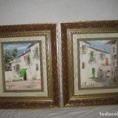 Coleccionismo: 2 CUADROS PINTADOS A MANO AL OLEO. FIRMADOS. Lote 84153127