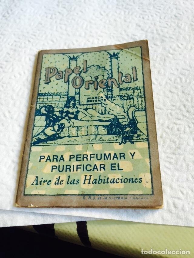 ANTIGUO LIBRO DE PAPEL PERFUMADO PAPEL ORIENTAL (Coleccionismo - Varios)