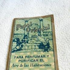 Coleccionismo: ANTIGUO LIBRO DE PAPEL PERFUMADO PAPEL ORIENTAL. Lote 74362339