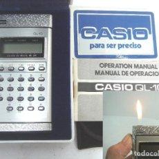 Coleccionismo: IMPOSIBLE CALCULADORA MECHERO -CASIO QL-10 JAPAN 1980 - CAJA + FUNDA + INSTRUCCIONES -QL10 . Lote 74393575