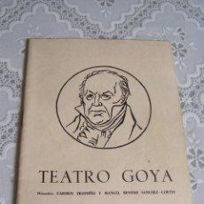 Coleccionismo: INAUGURACIÓN DEL TEATRO GOYA, MADRID 1958. GRUPO TEATRO 58.. Lote 74630371